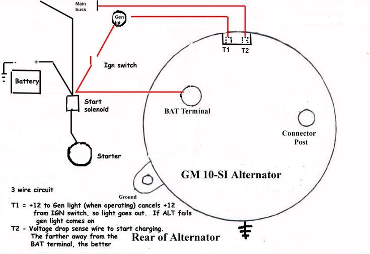 Gm 10si Alternator Wiring Issues The H A M B Alternator Diagram Delco