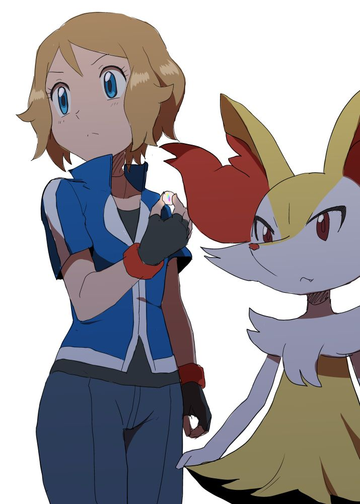 Serena and her Braixen #Amourshipping ^.^ ♡ in (715×1000) from pokemon-xy-serena.tumblr.com