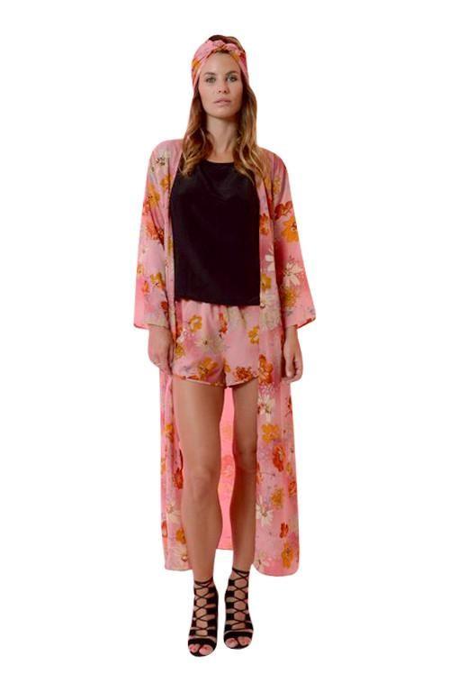 Rosa Kimono Jacket - Rose