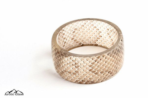 Limited Edition Snake Skin Tall Bangle - Arctic Glass - www.arcticglass.com.au