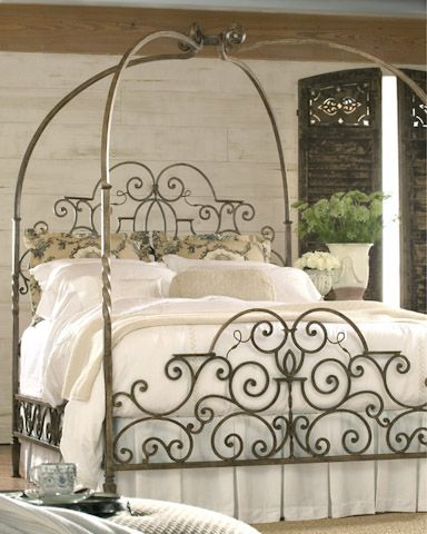 So beautiful and refined! Queen Metal Bed by Highland House   http://www.furniturelandsouth.com/Queen-Metal-Bed-DZ4896.aspx#