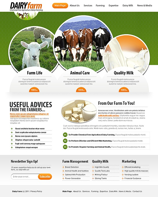 Dairy Farm | Agriculture Templates | Pinterest | Dairy