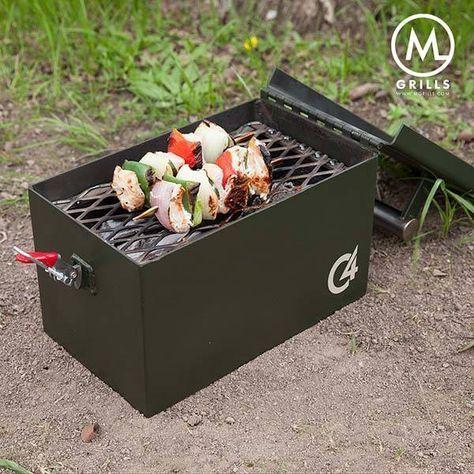 C4 Portable BBQ Grill Looks Like an Ammo Box