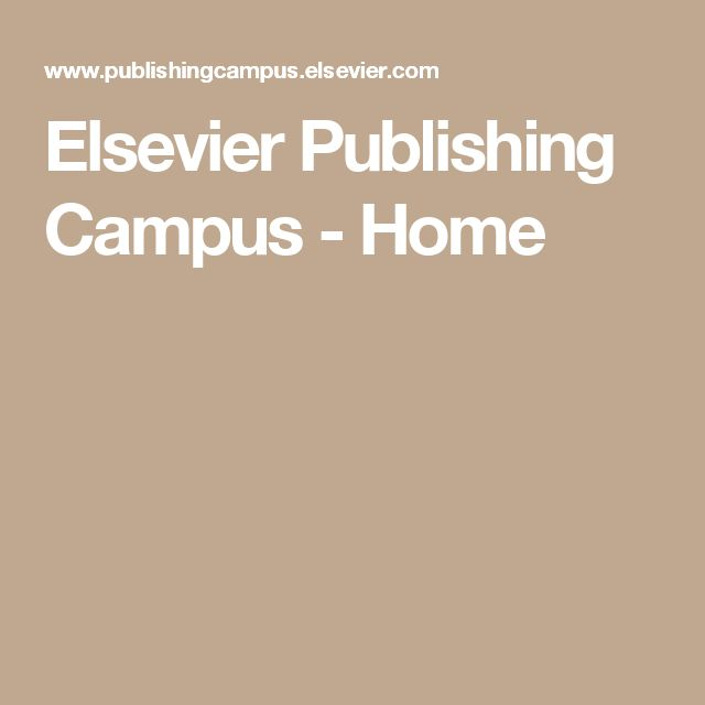Elsevier Publishing Campus - Home