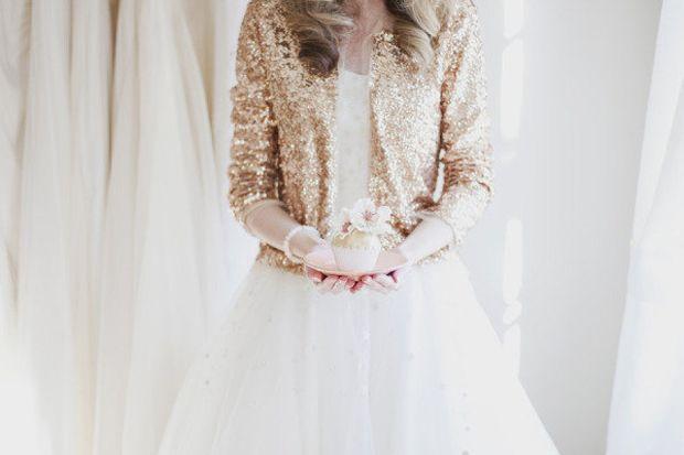 bridal sequin jacket
