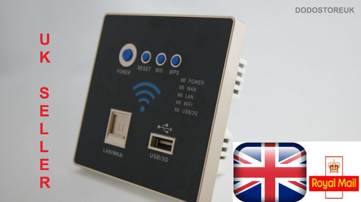 Wall Embedded Socket 3G Wifi Wireless AP Router USB Charger NEW