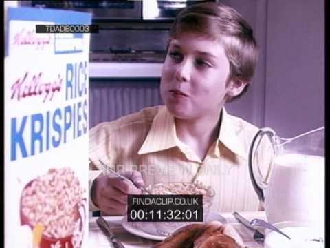 TDADB0003 Kelloggs Rice Krispies Growing Up Young Jonathan Ross (1970) - YouTube