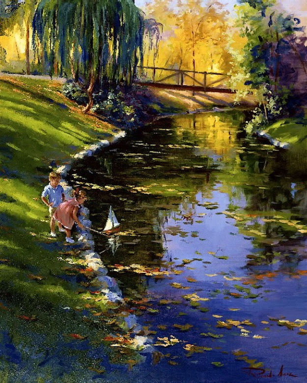 Wow!perfect painting reflection!by Ricardo Sanz
