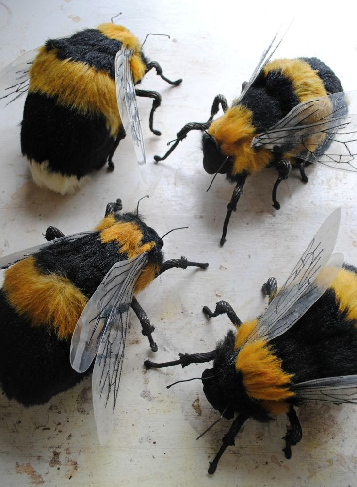 Mr Finch Textile Bees made from fake fur - these are absolutely stunning, I would love to own one of these: