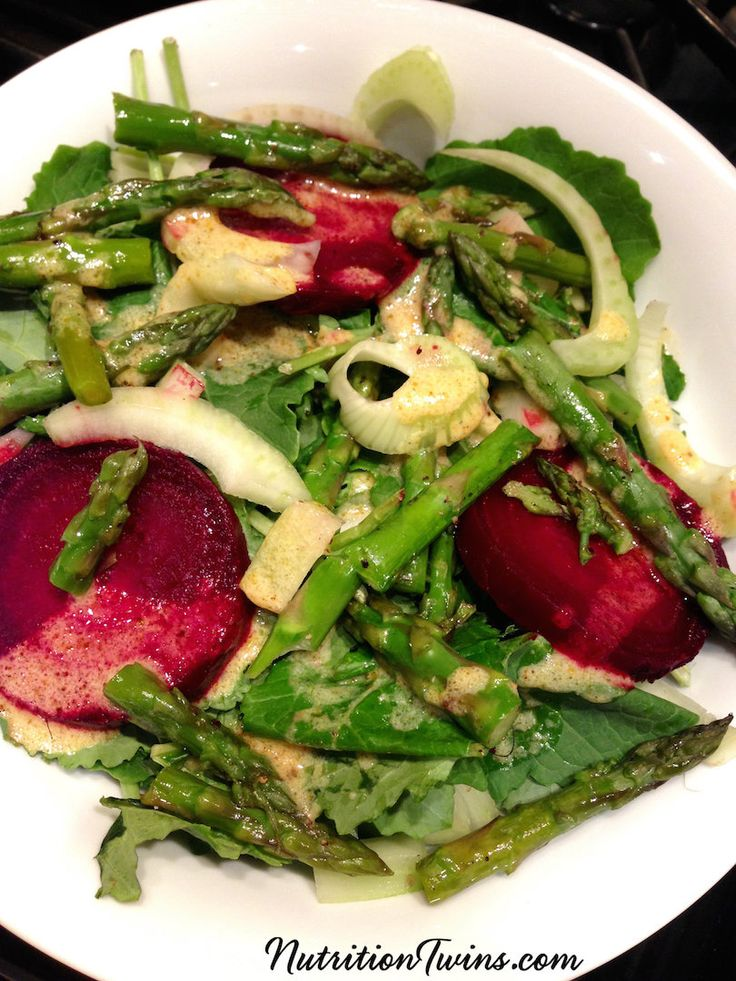 Veggie Detox Salad | Cleanse and Flush Bloat Naturally with Beets, Asparagus, Fennel & Kale | Only 190 Delicious Calories | Great for Weight Loss! | For MORE RECIPES please SIGN UP for our FREE NEWSLETTER www.NutritionTwins.com