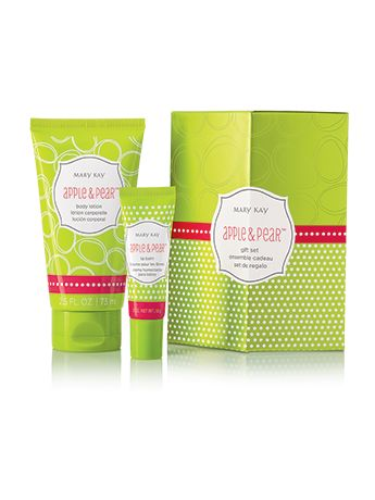 Add a touch of softness to the season with this blissful body lotion and luscious lip balm in: Apple & Pear™ – Sparkling fresh gets a touch of sweet that's sure to inspire good cheer. The sets: Make a fun stocking stuffer. Come nestled in a festively decorated gift box for easy gift-giving.