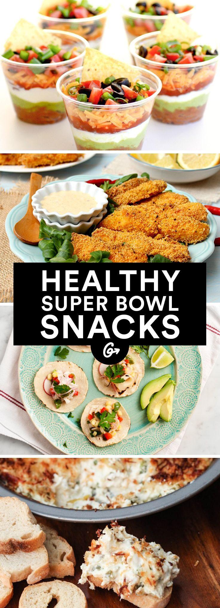 41 Guilt-Free Super Bowl Snacks #healthy #superbowl #recipes http://greatist.com/health/super-bowl-recipes-snacks