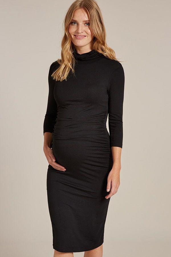 23++ Black long sleeve maternity dress info