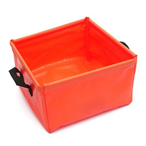 VolksRose 15L4Gal Foldable Bucket Collapsible Water Carrier Container Bag For Camping Hiking Travel etc * To view further for this item, visit the image link.