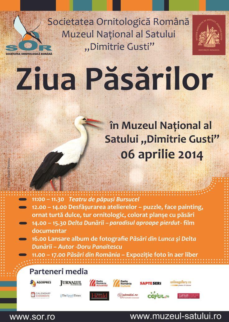 """Ziua Păsărilor, 6 aprilie 2014 la Muzeul Naţional al Satului """"Dimitrie Gusti"""" – ediţia a III-a"""