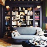 Funky homelibrary solutions, colors, interiordesign - check out interiorwise.wordpress.com for inspiration