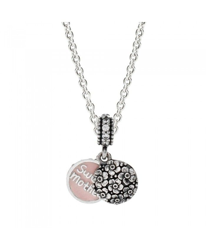 PANDORA Sweet Mother Necklace Mother's Day gives mother the best gift.