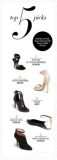 Fall Shoe Trend: Ankle Strap Heels
