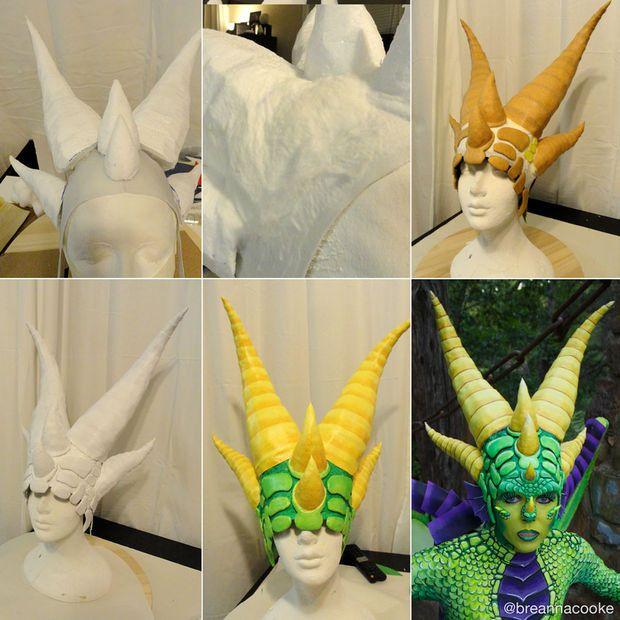 Dragon Costume by BreannaC STEP 5: Build a Headpiece www.instructables.com/id/Dragon-Costume-1/?ALLSTEPS