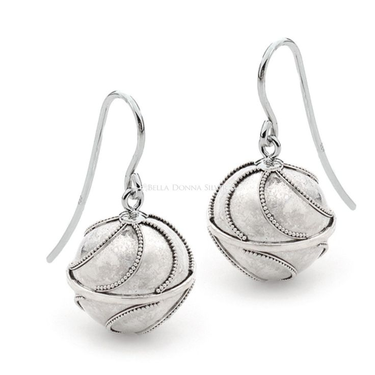 Waves Harmony Ball Earrings by Bella Donna Silver