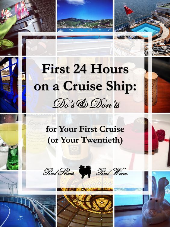 Do you have an embarkation day routine? We sure do! Here are some Do's and Don'ts for your first 24 Hours on a Cruise Ship (for Your First Cruise or Twentieth!). Mediterranean, Alaskan, Baltic, British Isles, Caribbean, Bahamas, Atlantic Cruises on Carnival, Disney, Norwegian, Royal Caribbean, MSC, and Princess Cruise Lines
