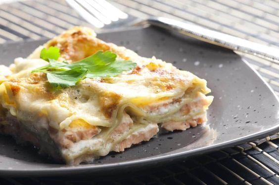 Somon, Keçi Peyniri ve Sebzeli Lazanya