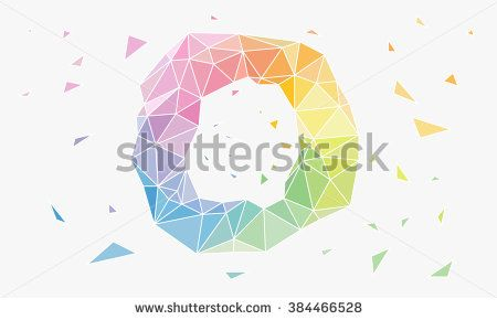 Low Poly, Polygon Geometry Background. Abstract Polygonal Geometric Shape. Low…