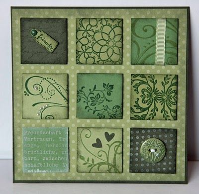 Love inchies!  Great for coordinating papers or stamped images.  She has examples in several color ways.