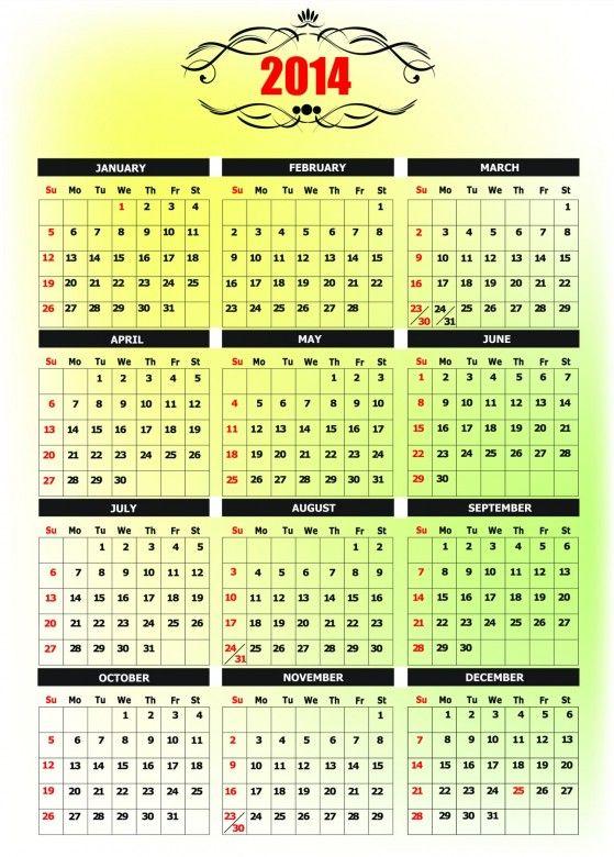40 best Calendar Template images on Pinterest Calendar templates - yearly calendar template