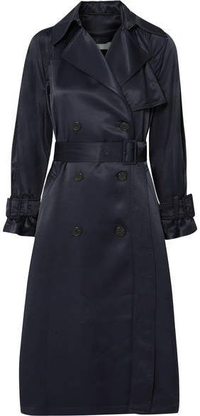 8b5ab49593f Vince - Satin Trench Coat - Navy. Classic