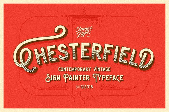 Chesterfield Typeface by Imagi Type Co. on @creativemarket