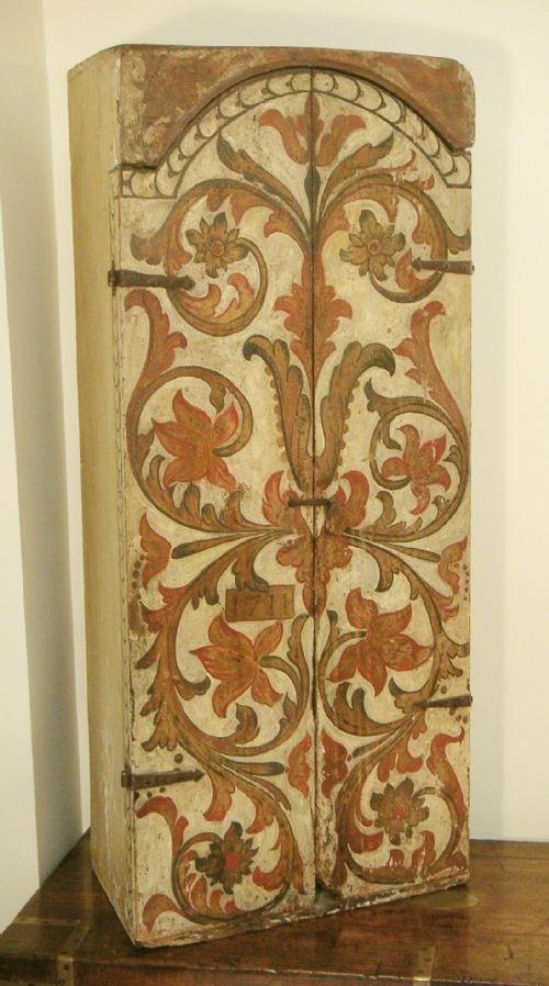 primitive painted cupboard