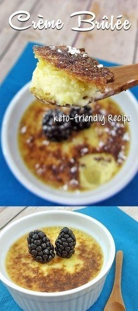 Keto-friendly Creme brulee, Sugar-free, Low Carb