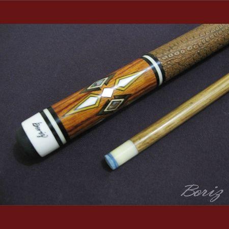Pool Cue for sale - Brown Snake Skin (Original Inlay Artwork)