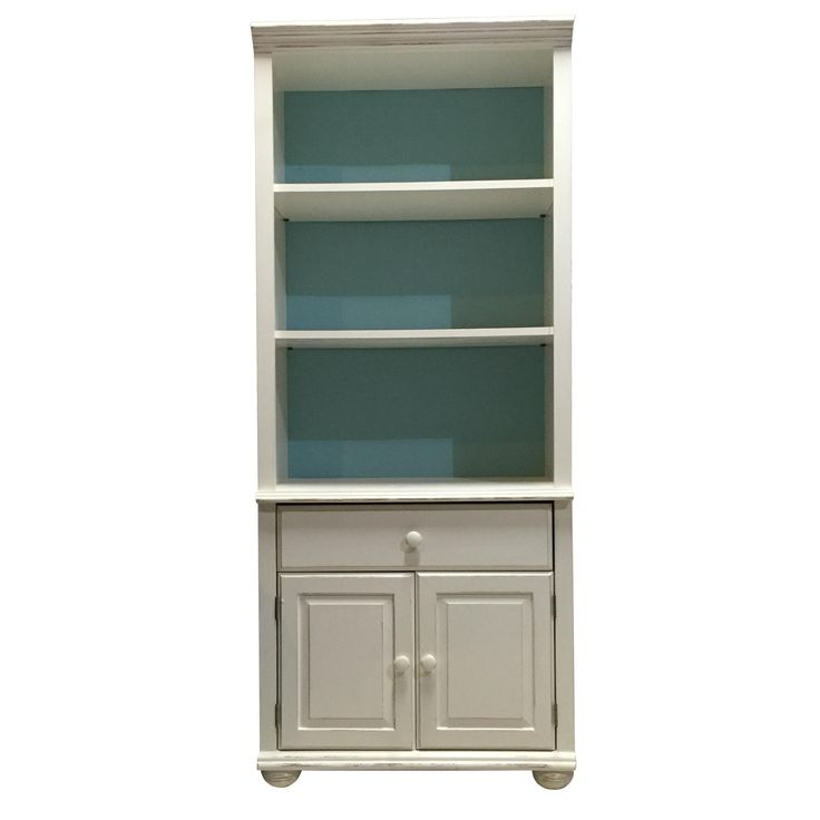 Beach Style Bookcase With Cabinet on Chairish.com