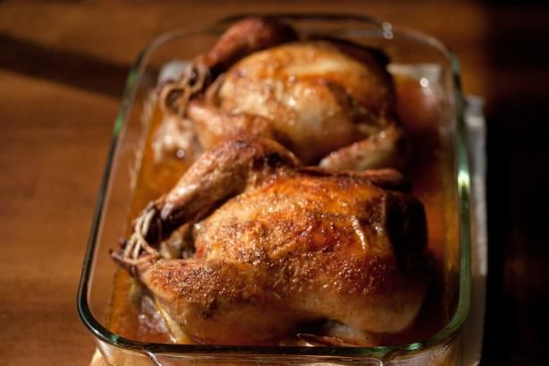 "Easy Cornish Game Hens ""This recipe is very easy and delicious! I made it even easier by not cutting the hens in half, and I cooked two hens — one for now and one for later."""