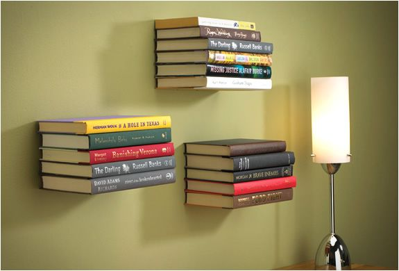 "Cool, simple and innovative idea, the ""conceal book shelf"" consists of a book that is actually supporting a shelf for books. The illusion is guaranteed, the books resting on the shelf, will look like they e floating on air. It holds up to 15 pounds of books, all hardware included."