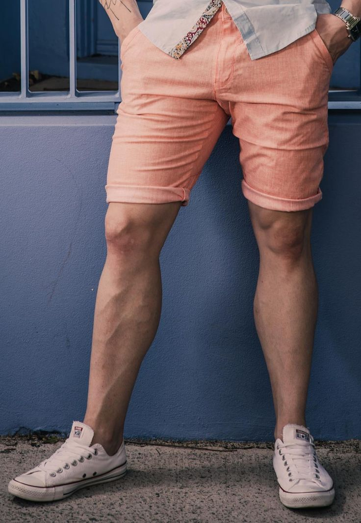 Men's Slim Fit Organic Twill Weave Chino Shorts – Faded Red. $49.95  http://sieteclothingco.com.au/shop/mens-shorts/