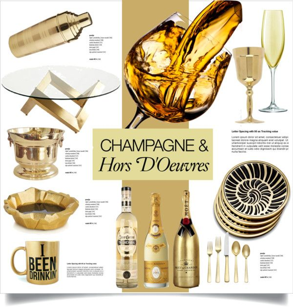 """""""champagne & hors d'oeuvres"""" by room-13 ❤ liked on Polyvore"""