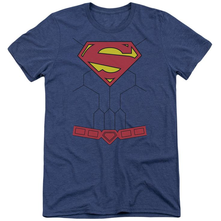 Superman New 52 Torso Adult Tri-Blend T-Shirt