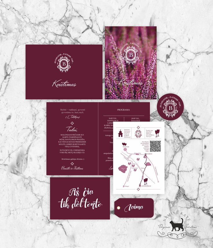 Classic wedding invitation design and prints Table