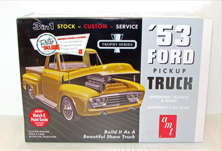 1953 Ford Pickup Truck New Plastic Model Kit AMT 882 1/25