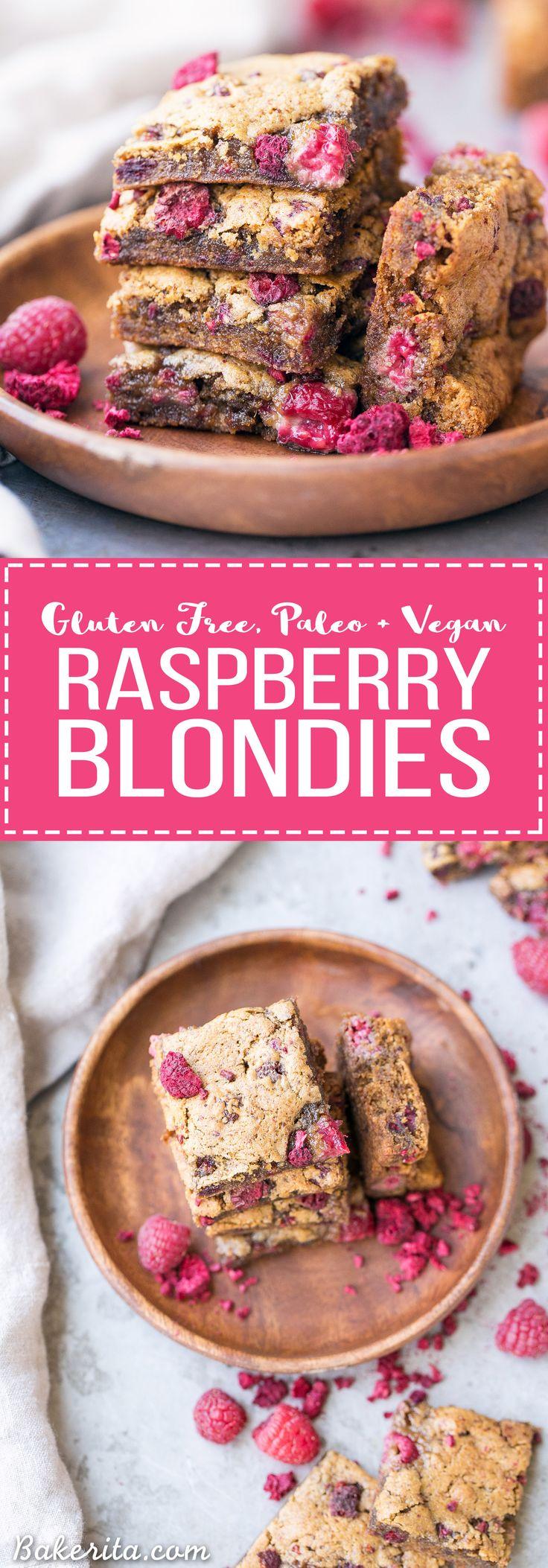 Raspberry Blondies