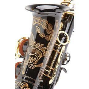 I am in love with this saxophone and I want one! It's the Yamaha Black Phoenix alto saxophone.