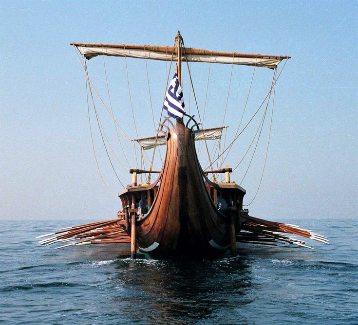The Delphic Oracle's 'Wooden Wall'....The 'Olympias' a reconstruction of the Athenian trireme & symbol of the victory at Salamis.