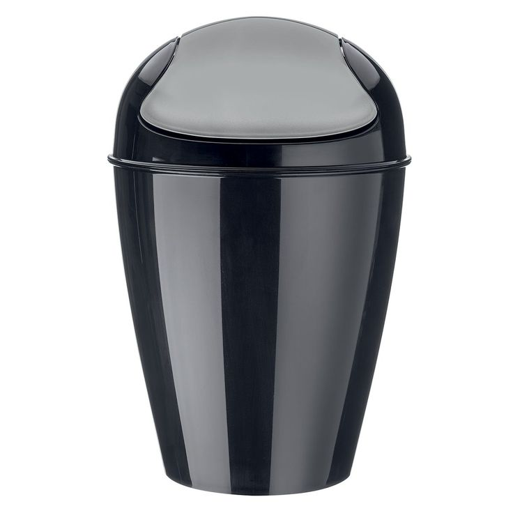 Schwingdeckeleimer DEL, schwarz (M) - Koziol #wastebin #dustbin #trash #garbage #waste #bin