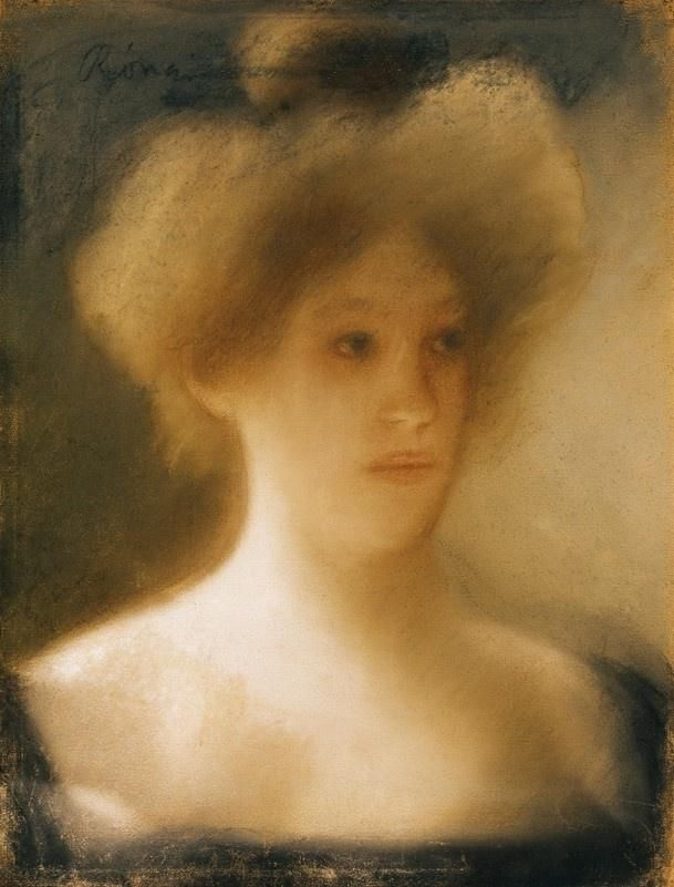 József Rippl-Rónai - Portrait of a Blonde Lady