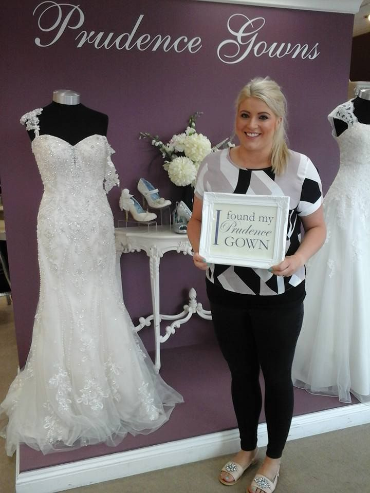 Our new #bride Olivia found her #weddingdress in our #Plymouth store today. YAY! #DressingYourDreams #PrudenceGowns