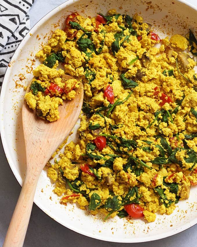 Vegan Breakfast Ideas Tofu Egg Scramble Tofu Scramble Vegan Vegan Brunch Vegan Breakfast Easy