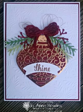 Embellished Ornaments and the Christmas Pine bundle